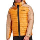 Adidas Terrex MyShelter Down Hooded Jacket - Mesa/Beige Tone