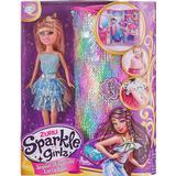 Dolls & Doll Houses Zuru Sparkle Glitz Sequin Wardrobe Carry Case