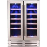 Wine Cooler Montpellier WC38DDX Stainless Steel