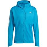Adidas own the run jacket Jackets Adidas Own the Run Hooded Wind Jacket Men - Sonic Aqua