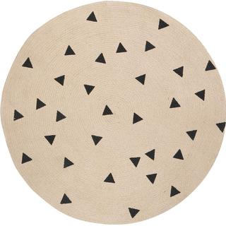 Ferm Living Jute Carpet Triangles Ø100cm