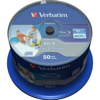 Verbatim BD-R 25GB 6x Spindle 50-Pack Wide Inkjet