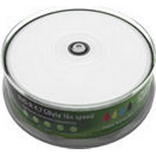 MediaRange DVD-R White 4.7GB 16x Spindle 25-Pack Wide Inkjet
