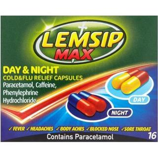 Lemsip Max Day & Night Cold & Flu Relief 500mg 16pcs