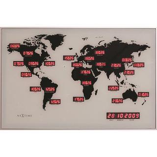 Nextime World Time Digit 55cm Wall Clock