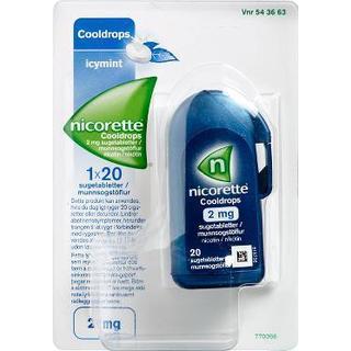 Nicorette Cooldrops Icymint 2mg 20pcs
