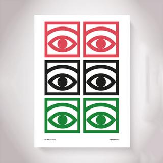 Olle Eksell Ögon Cacao 1956 Several Eyes 50x70cm Posters