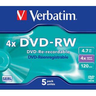 Verbatim DVD-RW 4.7GB 4x Jewelcase 5-Pack