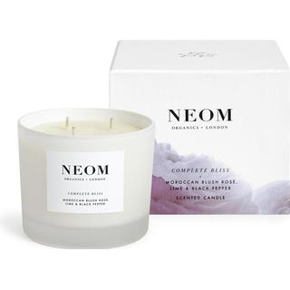 Neom Organics Complete Bliss 3 Wicks Scented Candle Moroccan Blush Rose Lime & Black Pepper 420g