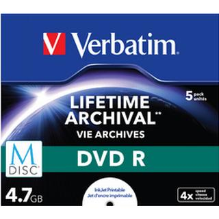Verbatim DVD-R 4.7GB 16x Jewelcase 5-Pack Inkjet