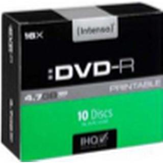 Intenso DVD+R 4.7GB 16x Slimcase 10-Pack Inkjet