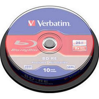 Verbatim BD-RE No ID Brand 25GB 6x Spindle 25-Pack Wide Printable