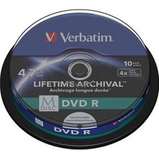 Verbatim DVD-R 4.7GB 4x Spindle 10-Pack Inkjet