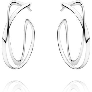 Georg Jensen Infinity Large Silver Earrings - Silver