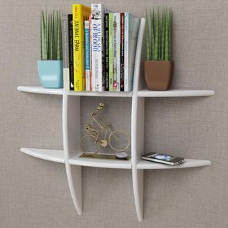vidaXL 242178 Book Shelf, Wall Shelf