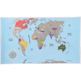 Scratch World Map 52x88cm Posters