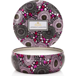 Voluspa Japanese Plum Bloom 3 Wick Tin Scented Candles