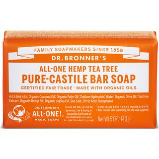 Dr. Bronners Pure Castile Bar Soap Tea Tree 140g