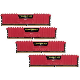 Corsair Vengeance LPX Red DDR4 3200MHz 4x4GB (CMK16GX4M4B3200C15R)