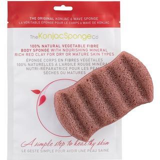 Konjac 6 Wave Bath Sponge Red French Clay