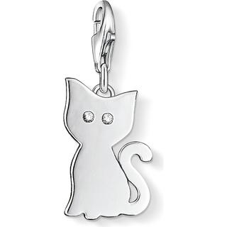 Thomas Sabo Charm Club Cat Charm - Silver/White