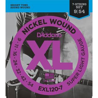 D'Addario EXL120-7
