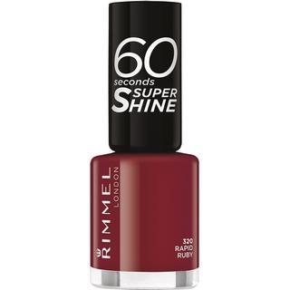 Rimmel 60 Seconds Super Shine Nail Polish Rapid Ruby 8ml