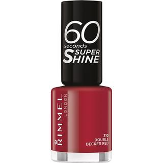 Rimmel 60 Seconds Super Shine Nail Polish Double Decker Red 8ml