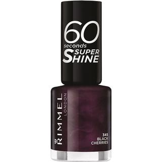 Rimmel 60 Seconds Super Shine Nail Polish Black Cherries 8ml