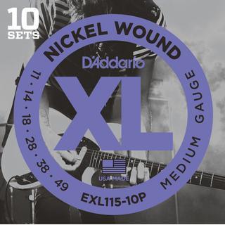 D'Addario EXL115-10P