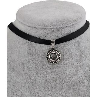 Zaful Sunflower Choker Necklace Faux Leather