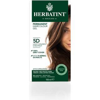 Herbatint Permanent Herbal Hair Colour 5D Light Golden Chestnut