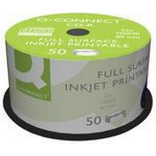 Q-CONNECT CD-R 700MB 52x Spindle 50-Pack Inkjet