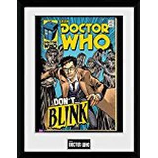 GB Eye Doctor Who Weeping Angel Comic 30x40cm Framed art