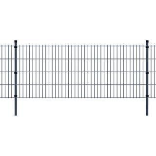 vidaXL 2D Garden Fence Panels & Posts 28mx83cm