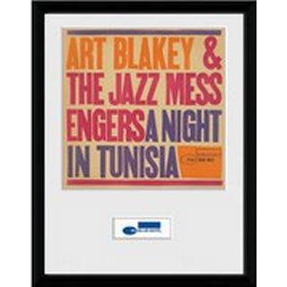 GB Eye Blue Note Tunisia 30x40cm Framed art