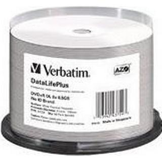 Verbatim DVD+R No ID Brand 8.5GB 8x Spindle 50-Pack Wide Thermal