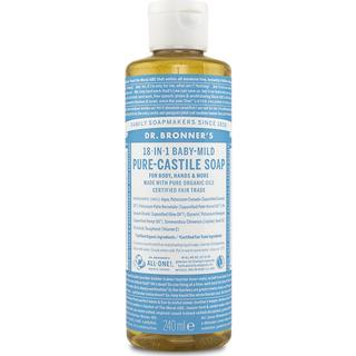 Dr. Bronners Baby Unscented Pure Castile Liquid Soap 240ml