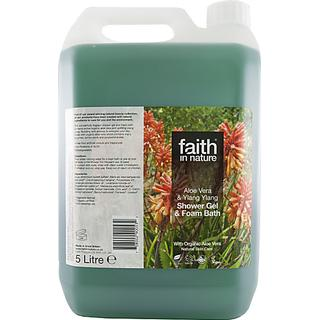 Faith in Nature Ylang Ylang Shower Gel & Foam Bath Aloe Vera 5000ml