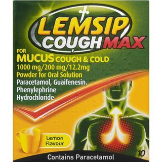 Lemsip Cough Max for Mucus Cough & Cold Lemon 1000mg 10pcs