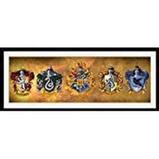 GB Eye Harry Potter Houses 30x75cm Framed art