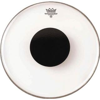 """Remo Controlled Sound Clear Top Black Dot 14"""""""