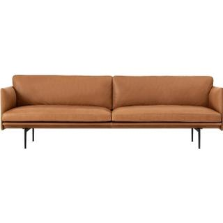 Muuto Outline Leather Leather Sofa 3 Seater