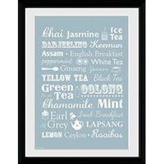 GB Eye Tea Types 30x40cm Framed art