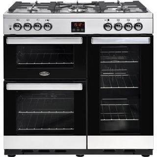 Belling Cookcentre 90DFT Black, Stainless Steel