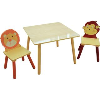 Liberty House Toys Jungle Square Table & 2 Chairs Set