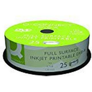 Q-CONNECT DVD-R 4.7GB 16x Spindle 25-Pack Inkjet