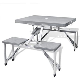 vidaXL Foldable Camping Table With 4 Chairs