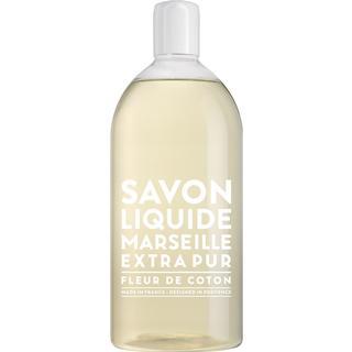 Compagnie de Provence Savon De Marseille Extra Pur Liquid Soap Cotton Flower 1000ml Refill