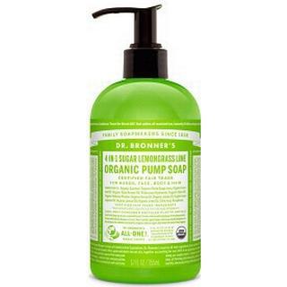 Dr. Bronners Organic Sugar Soap Lemongrass Lime 355ml